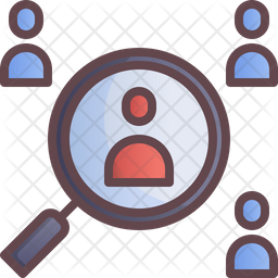 Find Infected Person Colored Outline Icon