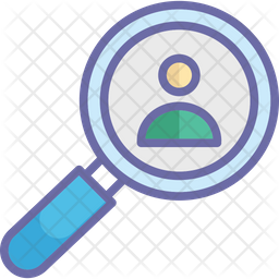 Find Man Colored Outline Icon
