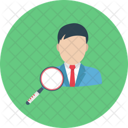Find Person Rounded Icon