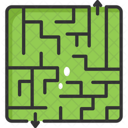 Find Way Game Colored Outline Icon