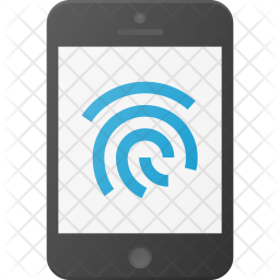Finger id Flat Icon