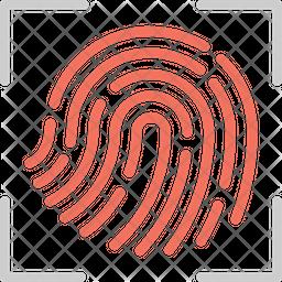 Finger Print Scanning Icon