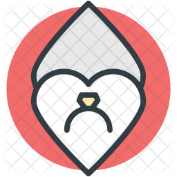 Fingering Colored Outline Icon