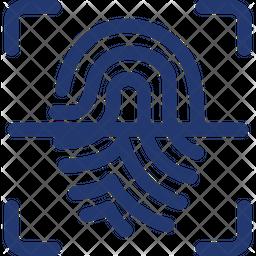 Fingerprint Glyph Icon