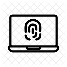 Fingerprint Lock Line Icon