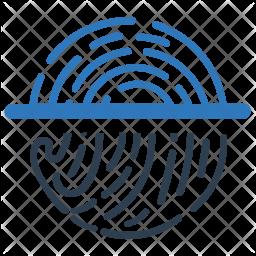 Fingerprint matching Icon