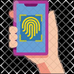 Fingerprint Scan Flat Icon