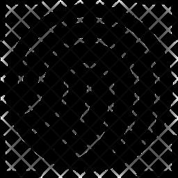 Fingerprint Scan Glyph Icon