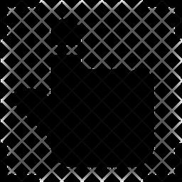 Fingerprint Scanner Glyph Icon
