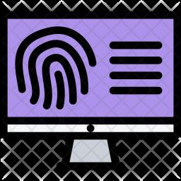 Fingerprint, Search, Law, Crime, Judge, Court, Police Icon