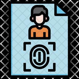 Fingerprints-identification-user-biometric recognition-fingerprint identification Colored Outline Icon