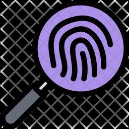 Fingerprints, Law, Crime, Judge, Court, Police Icon