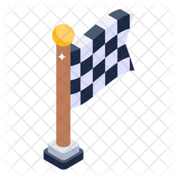 Finish Line Flag Icon