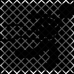 Finishing Line Glyph Icon