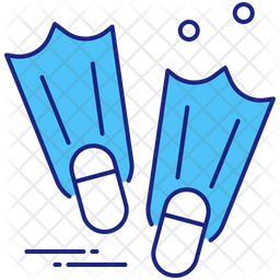Fins Colored Outline Icon