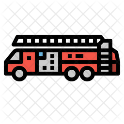 Fire Truck Icon Of Colored Outline Style Available In Svg Png Eps Ai Icon Fonts