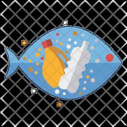 Plastic Pollution Icon