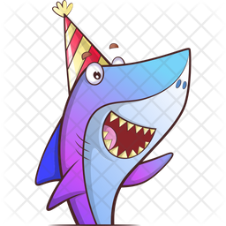 Fish In Party Icon