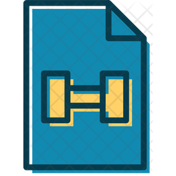 Fitness Document Colored Outline Icon