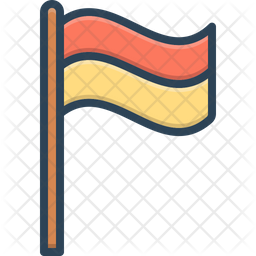 Flag Colored Outline Icon