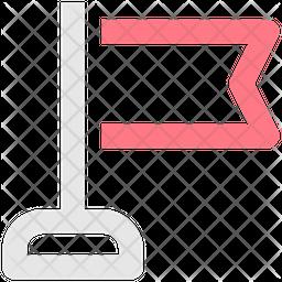Flag Line Icon