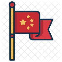 Flag Of China Icon Of Colored Outline Style Available In Svg Png Eps Ai Icon Fonts