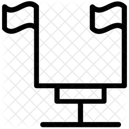 Flagpole Line Icon