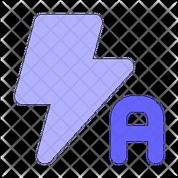 Flash-auto Flat Icon