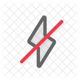Flash Off Colored Outline Icon