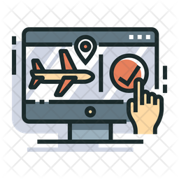 Flight Colored Outline Icon