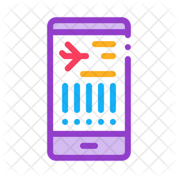 Flight Information Colored Outline Icon
