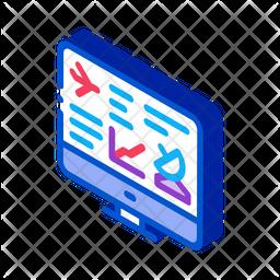 Flight Monitoring Screen Icon