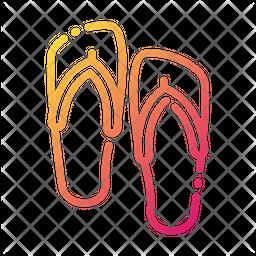 Flip Flops Gradient Icon