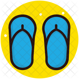 Flip Flops Colored Outline Icon