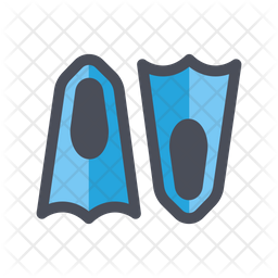 Flippers Colored Outline Icon
