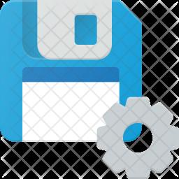 Floppydisk setting Icon