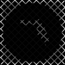 Florida Glyph Icon
