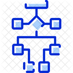 Flow Chart Colored Outline Icon