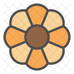 Flower cookie Icon