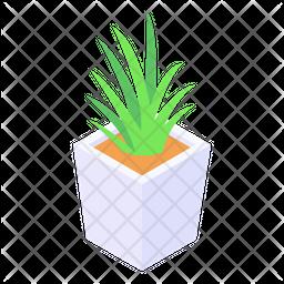 Flower Pot Isometric Icon