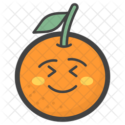 Flushed Orange Emoji Icon