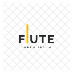 Flute Logo Colored Outline Icon