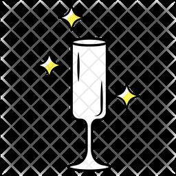 Flute Wine Glass Icon