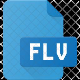 Flv Film Flat Icon