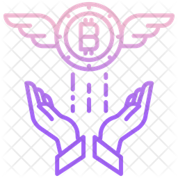 Fly Wings Bitcoin Icon
