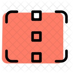 Focus Camera Vertical Colored Outline Icon