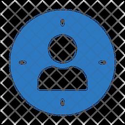 Focus Profile Flat Icon