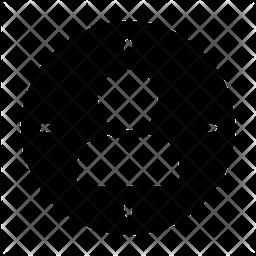 Focus Profile Glyph Icon