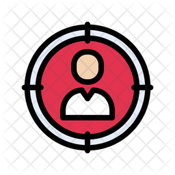 Focus User Colored Outline Icon