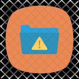 Folder alert Icon